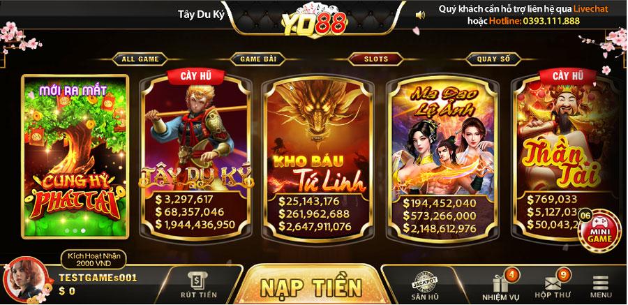 game slots YO88
