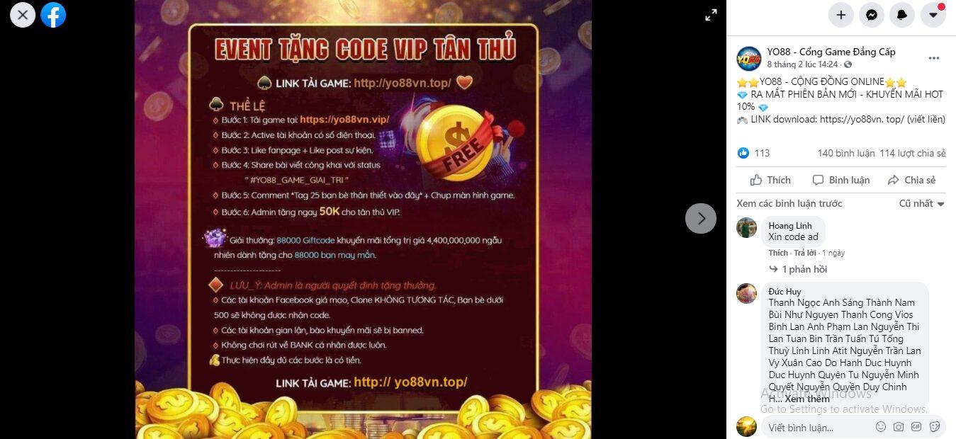 Bài post hướng dẫn người chơi nhận giftcode tân thủ trên game bài đổi thưởng Go88